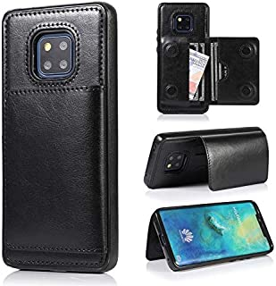 MY CASE for Huawei Mate 20 Pro Case, Horizontal Flip Stand Case, Leather Wallet Case Cover with Magnetic Credit Card Holders Case Flip Back Stand Cases (Color : Black)