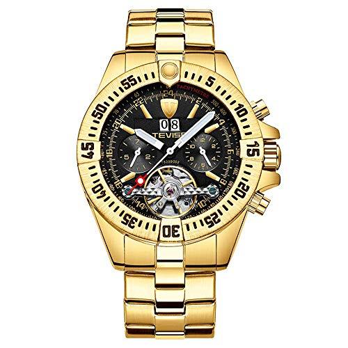 Reloj mecánico automático para hombre, reloj multifuncional con calendario de negocios, reloj de pulsera impermeable con manos luminosas