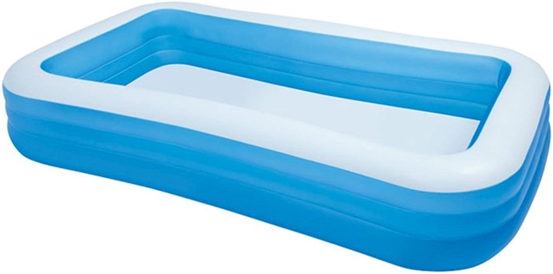 Groes Rechteckiges Aufblasbares Familienschwimmbad Mehrspielerpool Spielzeugpool Gre  305  183  56cm Bule
