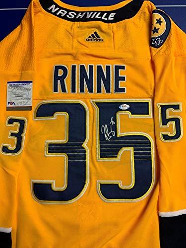 Authentic Autographed Pekka Rinne Jersey PSA/DNA COA Nashville Predators Adult Large