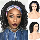 Aisaide Dreadlock Wig Headband for Black Women Braided Wigs Goddess Faux Nu Locs Wig Dreads Freetress Twist Crochet Hair with Curly Ends Senegalese Short Bob Curly Wig with Headband Attached 14Inch