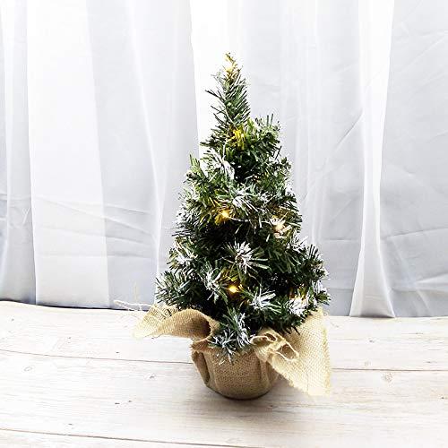 HTHJA Pequeño Árbol De Navidad con Luces, Mini Pino De Navidad Artificial,...