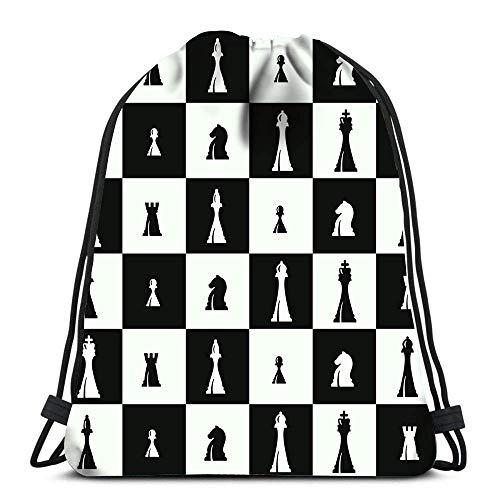 JONINOT Kordelzug Rucksack Taschen Schachfiguren Sport-Sporttasche