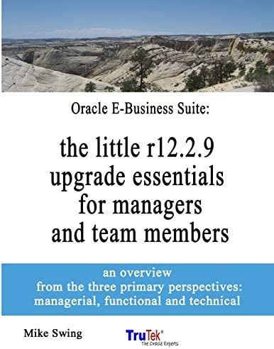 Oracle E Business Suite the little r12 2 9 upgrade essentials for managers and team members product image