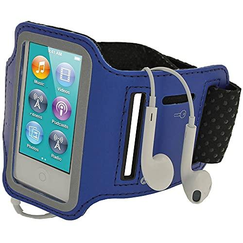 igadgitz U2045 Brazalete Deporte Antideslizante, En Neopreno Compatible con Apple iPod Nano 7ª Gen 16GB - Azul