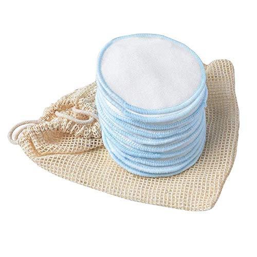 10 wiederverwendbare Baumwoll-Make-up-Entferner-Pads, weiche Bambusräder und Wäschesack für Reinigung Gesichtsmake-up-Entferner Zubehör (Color : 10pcs)