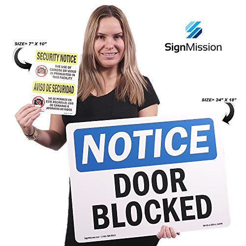OSHA Notice Sign - No Entry Without Permission | Rigid Plastic Sign | Protect Your Business, Construction Site, Warehouse & Shop Area | Made in The USA Photo #3