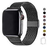 WFEAGL コンパチブル apple watch バンド, コンパチブルiWatch通用ベルト apple watch series 5/4/3/2/1に対応 交換ベルトステンレス製 (42mm 44mm, ブラック)