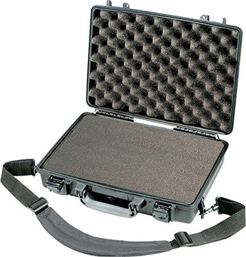 PELI 1470 Shockproof Laptop Case, IP67 Watertight and Dustproof, 19L Capacity, Made in US, With Customisable Foam Inlay, Black