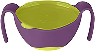 b.box 3 in 1 Bowl with Lid and Straw & Snack Insert | 6 Months + |  Color: Passion Splash | 8.5 oz. | BPA-Free | Phthalates & PVC Free | Dishwasher & Microwave Safe
