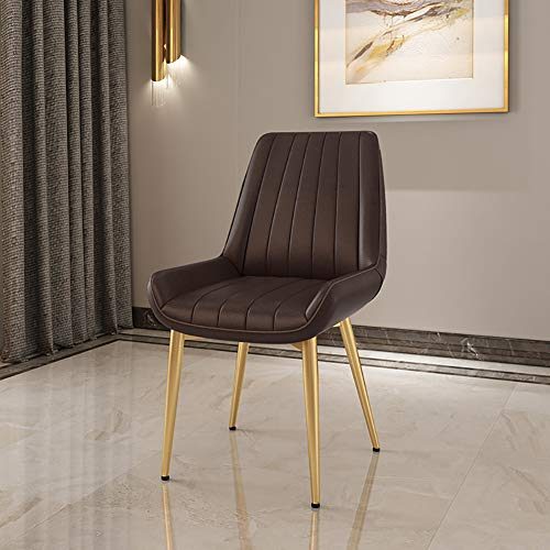 XW smeedijzeren eetkamerstoel voor restaurant, moderne minimalistische casual bureaustoel (zonder armleuningen)