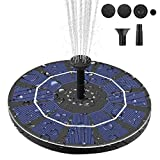 Viajero Latest Upgrade 2.5W Solar Fountain Pump for Bird Bath with 800mAh Battery Backup, Free Standing Portable Floating Solar Powered Water Fountain Pump for Garden Backyard Pond Pool Outdoor
