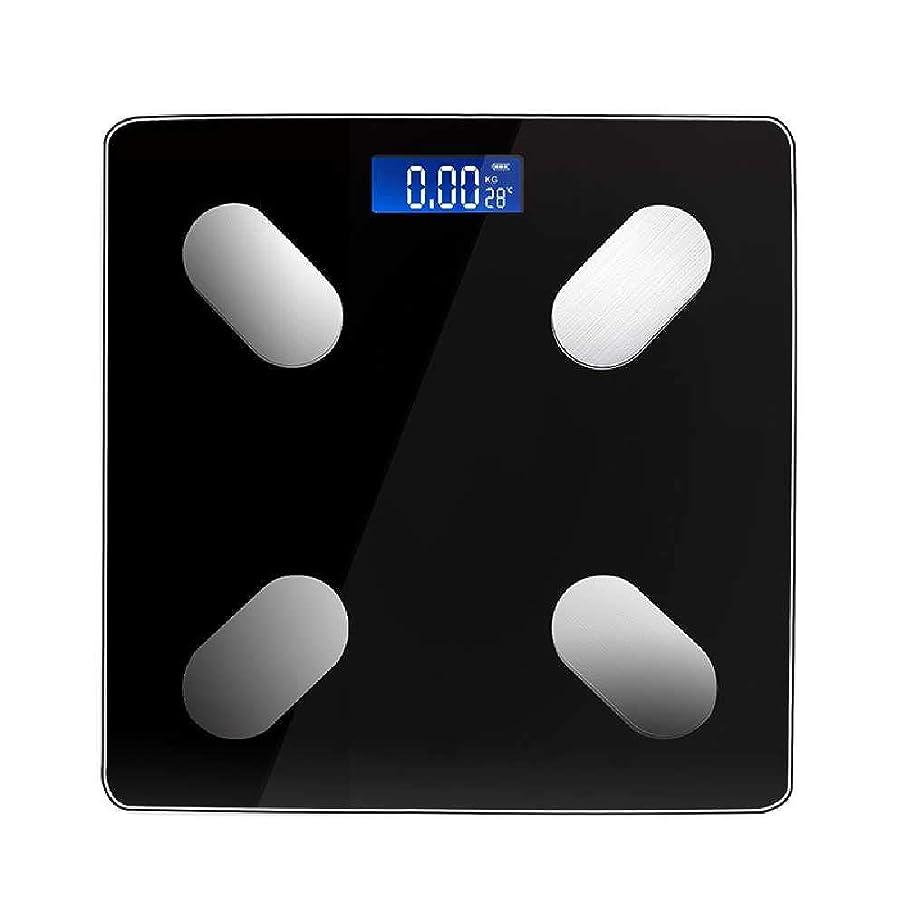 南アメリカ緑インスタンス電子体重計体重計浴室家庭用体重計新しいインテリジェント家庭用体重計多機能Bluetooth体脂肪計280 * 280 * 20 mm,黒