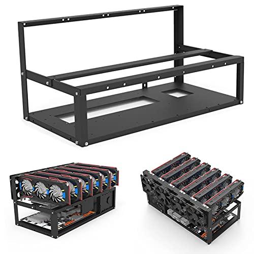 Rack de caja de minería apilable de 6 GPU, organizador de cables...