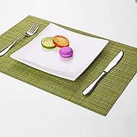 キッチンテーブルランチョンマット Place Mat 1PCS Placemats PVC Placematマットプレートマットテーブルマットセットキッチンホットパッドスクエアマットパッド。 テーブルランチョンマットカバー (Color : D, Size : Free)