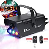 [2019 Upgraded]Halloween Fog Machine, amzdeal Portable Smoke Machine with LED Lights Equipped with...