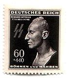 German WWII Nazi MNH Stamp SS Heydrich Death Mask Mnh Pristine Bright Scarce