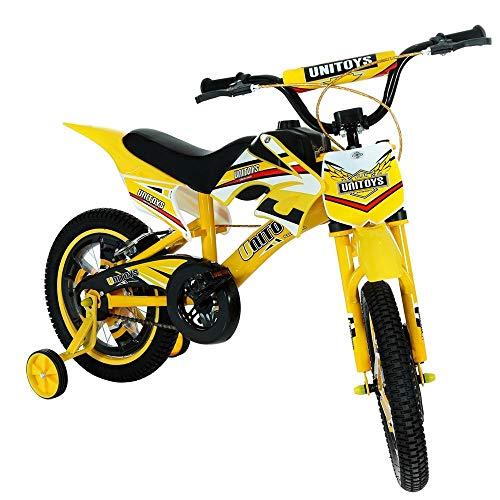 Bike Moto Cross Amarela Aro 16, Uni Toys, 1173