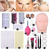 Vcedas Training Mannequin Head False Eyelashes Kit Extension Professional For Beginner Makeup Training and Eyelash Graft (#2)