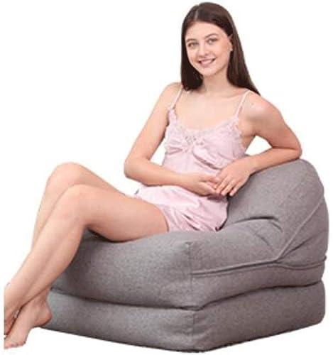 ZL-Sillón puff Plegable sofá Perezoso Dormitorio balcón Solo Asiento Personalidad Creativa Almuerzo sofá sofá Lazy Chair (Color   A, Tamaño   85cm)