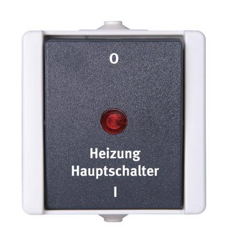 Kopp 541356004 Pro AQA Aufputz-Feuchtraum Schalterprogramm Heizungshauptschalter beleuchtet