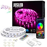 Bluetooth LED Strip Lights 10M, JESLED 5050 RGB Neon Lights with RF Controller