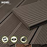 HORI® WPC-Terrassendiele Komplettset Massiv Bali I Fläche: 5 m² I 2,90 m Dielenlänge I Braun