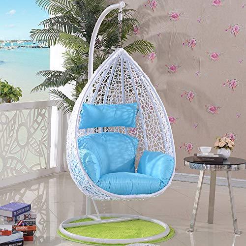 SMGPYHWYP Rattan-Weidengarten-Patio-hängender Schwingstuhl, hängender Rattan-Schwingstuhl-Stuhl mit Armlehnen-Garten-Patio-Möbeln im Freien/Innen
