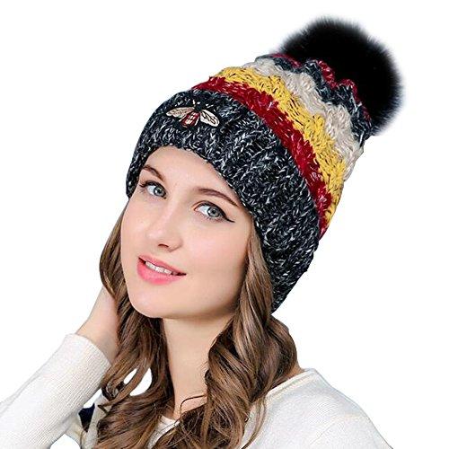 Winter Wollmütze Radfahren winddicht weiblichen Herbst und Winter warm süß plus samt dicken Gehörschutz Strickmütze