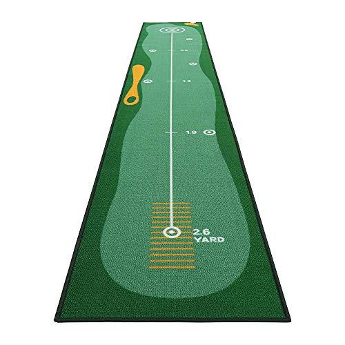 YX-lle Home Tapis de golf vert pour entraînement de golf - Extra long - 3 m - Pour la maison, le bureau, le jardin (vert, fin, 300 x 50 cm)