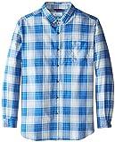 Columbia Men's Tall Rapid Rivers II Long Sleeve Shirt, Vivid Blue/White Cap Plaid, 2X/Tall