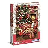 Clementoni Collection – Christmas by The Fire 1000 Piezas – Fabricado en Italia – Puzzle Adulto, Multicolor (39580)