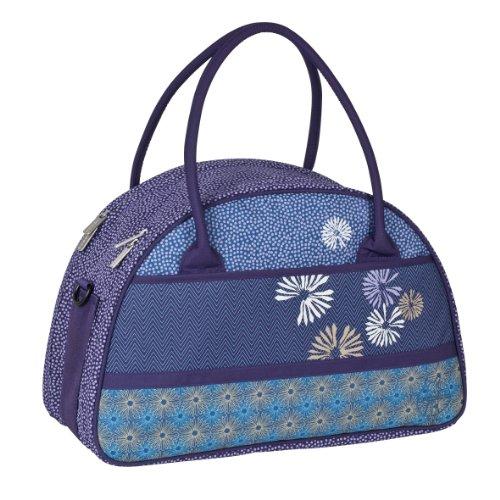 LÄSSIG Baby Wickeltasche Babytasche Stylische Tasche inkl. Wickelzubehör/Casual Shoulder Bag Bloom ash