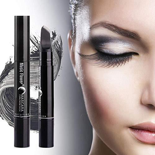 Rímel de fibra de seda 3D, rímel superlativo a prueba de manchas, hipoalergénico, rímel impermeable, rizado, rizado, sin floración, negro ojo