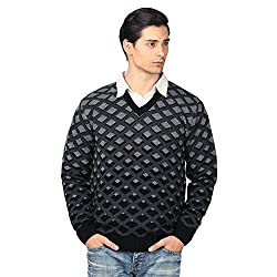 aarbee Mens V-neck Long Sleeve Regular Fit Sweater