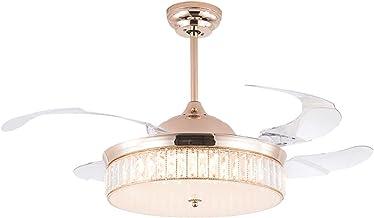 Interieur verlichting, intelligente plafondventilatorlampen, afstandsbediening, 3 bladen, kristal, onzichtbaar, moderne de...
