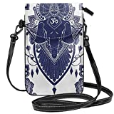 Jiger Women Small Cell Phone Purse Crossbody,Holistic Sign Representing Success Mandala Oriental Drawing Illustration