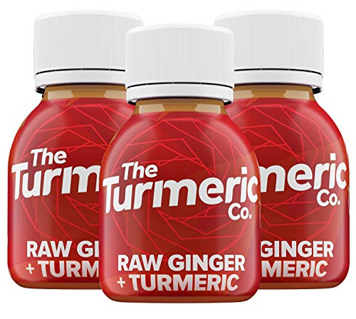 The Turmeric Co, Liquid Turmeric and Ginger Drink Shots, High Strength 35g of Fresh Turmeric Root, Ginger Root, Black Pepper, Lemon, No Added Water, 9 Shots Cold Pressed, Vegan, Made in UK