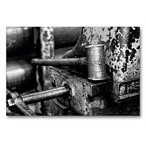 CALVENDO Premium Textil-Leinwand 90 x 60 cm Quer-Format Eisenhammer an der Drehbank, Leinwanddruck von Gerhard Bomhoff