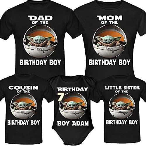 Personalised Baby Y.o.d.a Birthday Shirt, Birthday Girl Boy, Custom Birthday Shirt, Custom Age Shirts, Birthday Gifts, Birthday Family Funny Long Sweatshirt Hoodie Black