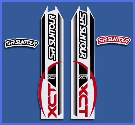 Ecoshirt 07-R5HC-LOJ0 Aufkleber Fork SR Suntour Dp1109 Stickers Aufkleber Decals Autocollants Adesivi, rot