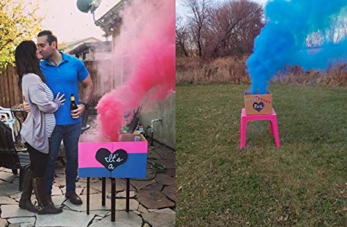 Baby Gender Reveal Pink and Blue 30Second Color 2 Pink and 2 Blue