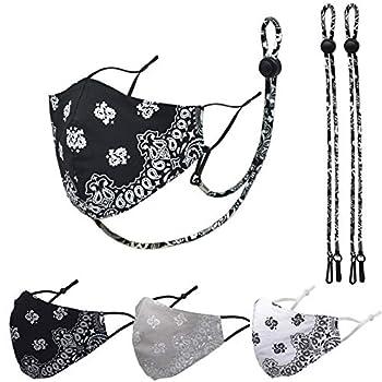 3 Packs Cotton Face Mask,Adjustable Earloop Washable and Reusable,Fashion Unisex Paisley Balaclava