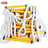 MFZTQ Emergency Fire Escape Ladder 10M Flame Resistant Safety Rope Soft Ladder Fast
