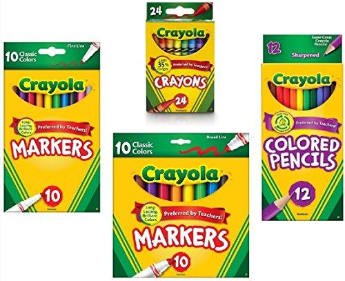 Conjunto de giz de cera Crayola, crayons + pencils + markers