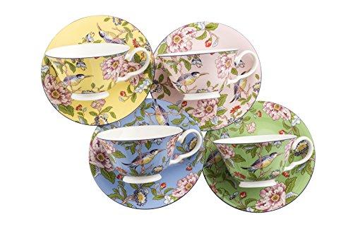 Aynsley Pembroke Windsor Tazze e piattini, Set di 4