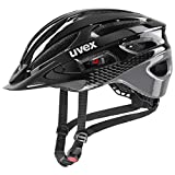 uvex True Casco de Bicicleta, Unisex-Adult, Black-Grey, 52-56 cm