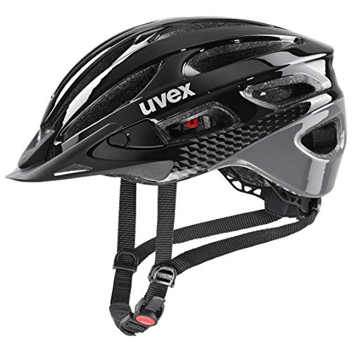 uvex Unisex - Erwachsene, true Fahrradhelm, black - grey, 52-55 cm