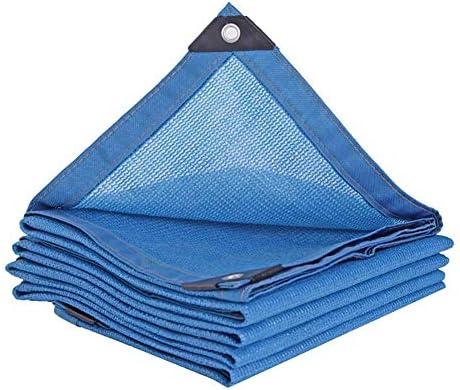MTYLX Schaduw Netting zwart 80 zonneblok mesh shade voor pergola afdekking luifel buiten tuin bloemeninstallatie schaduw doek met spuitmonden blauw 2 m x 2 m