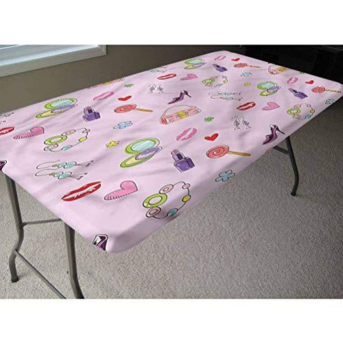 LCGGDB Mantel ajustable de poliéster para mesa de pícnic, de Flora Fashion Lollipop con bordes elásticos, 61 x 121 cm, para fiestas de Navidad